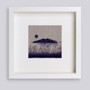 Martina Scott Lake Isle of Inisfree Silk Screen Print on Irish Linen
