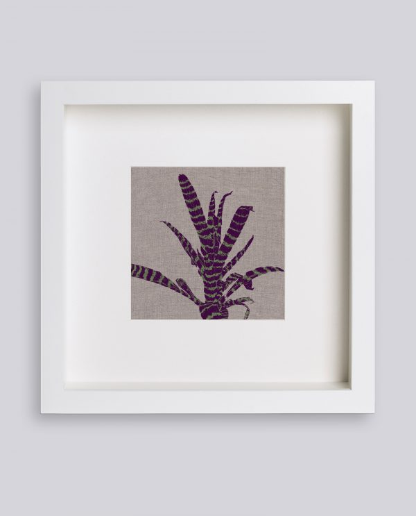 Martina Scott Stripey Plant Silk Screen Irish Linen